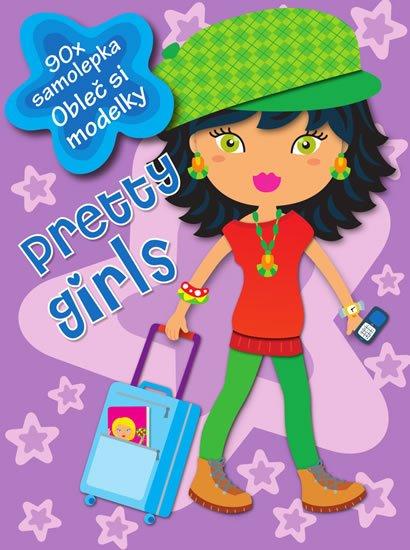 neuveden: Pretty girls (lila) - 90 samolepek