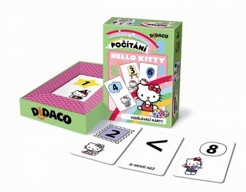 neuveden: Vzdělávací karty - Počítání - Hello Kitty