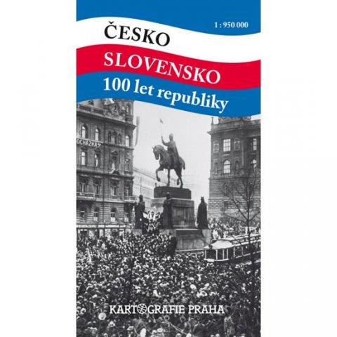 neuveden: Česko Slovensko 100 let republiky 1:950 000