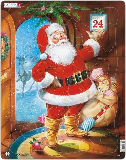 neuveden: Puzzle MINI - Vánoční přání s obálkou/9 dílků