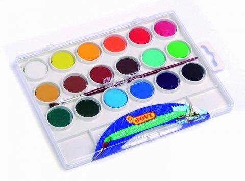 neuveden: JOVI vodové barvy 18ks + štětec