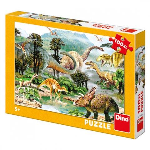 neuveden: Život dinosaurů: puzzle 100XL dílků