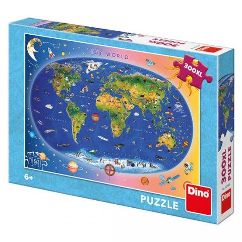 neuveden: Mapa The World (dětská): puzzle 300XL dílků