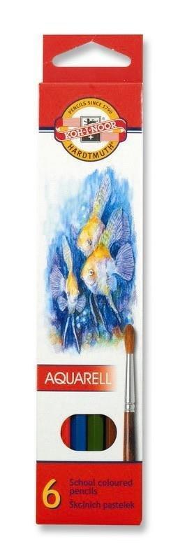 neuveden: Koh-i-noor pastelky akvarelové školní 6 ks motiv RYBY