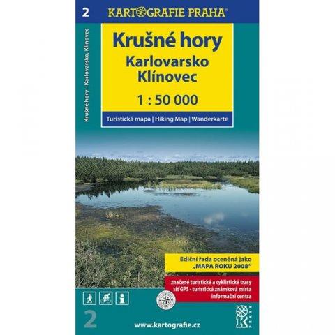 neuveden: 1: 50T ( 2)-Krušné hory, Karlovarsko (turistická mapa)