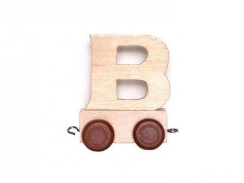 neuveden: Vagónek B - hnědá kolečka