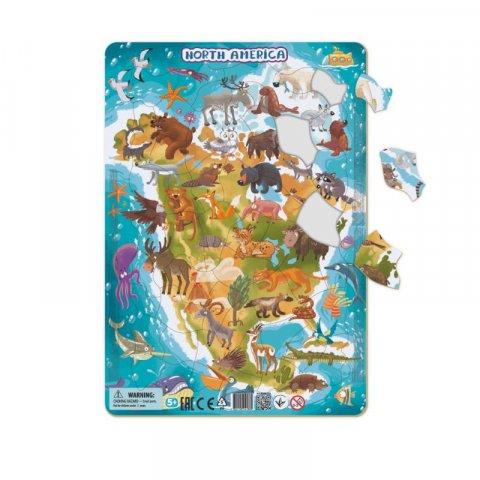 neuveden: Dodo Puzzle rámové Zvířata severní Ameriky 53 dílků