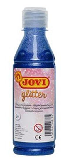 neuveden: JOVI temperová barva glittrová 250 ml v lahvi modrá