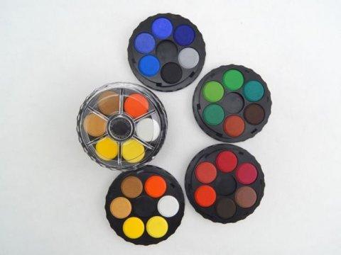 neuveden: Koh-i-noor vodové barvy/vodovky kulaté 24 barev