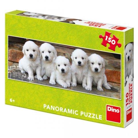 neuveden: Pět štěňátek: panoramic puzzle 150 dílků