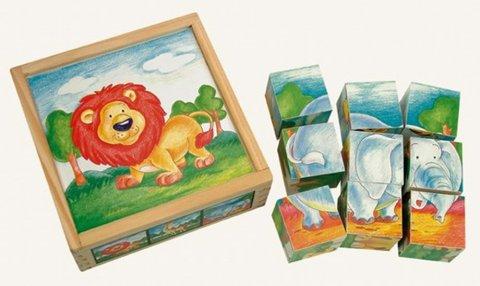 neuveden: Obráz. kostky-Divoká zvíř, 9 ks