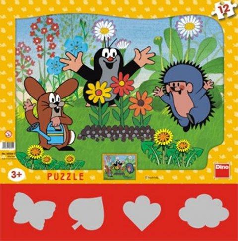neuveden: Krtek zahradník - Puzzle 12 tvary