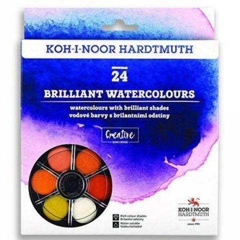 neuveden: Koh-i-noor vodové barvy/vodovky BRILLIANT kulaté 24 barev