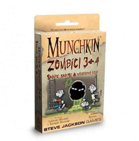 neuveden: Munchkin Zombíci 3+4 - Karetní hra - rozšíření