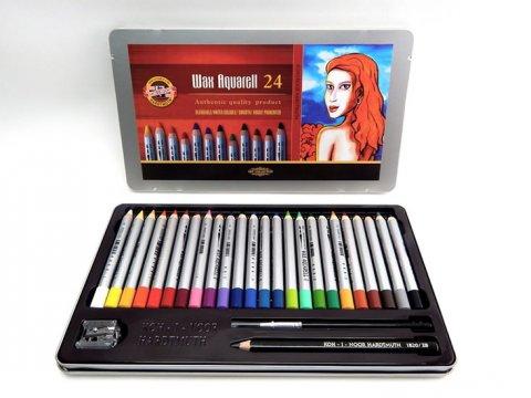 neuveden: Koh-i-noor souprava akvarelových tužek wax  24 ks