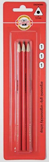neuveden: Koh-i-noor tužka grafitová trojhranná č.1/červená set 3 ks
