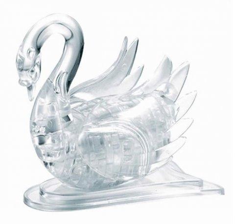 neuveden: Labuť bílá: 3D Crystal puzzle 44 dílků