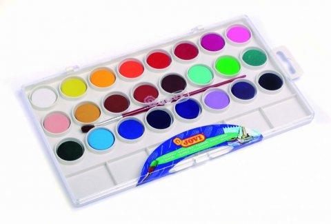 neuveden: JOVI vodové barvy 24 ks + štětec