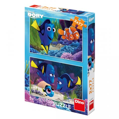 neuveden: Hledá se Dory: puzzle 2x77 dílků