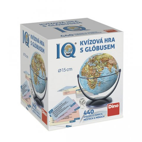neuveden: IQ - Kvízová hra s glóbusem: 440 otázek o zemích, městech a měnách