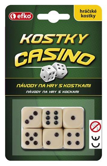 neuveden: Kostky CASINO - hráčské kostky keramické