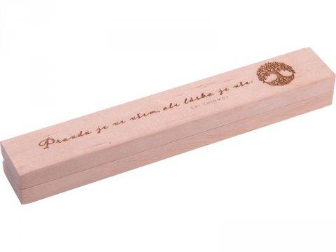 Chinmoy Sri: Dřevěná krabička na propisku