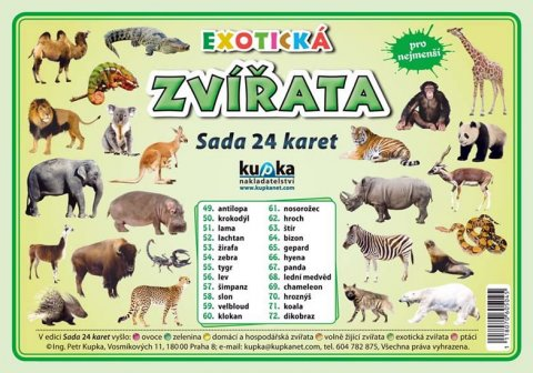 Kupka Petr a kolektiv: Exotická zvířata - Sada 24 karet