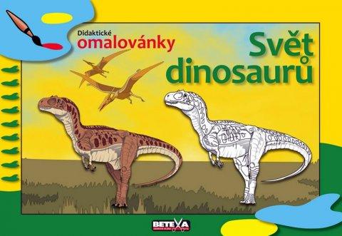 neuveden: Svět dinosaurů - didaktické omalovánky
