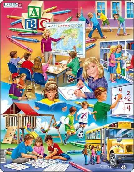 neuveden: Puzzle MAXI - Zpátky do školy/33 dílků