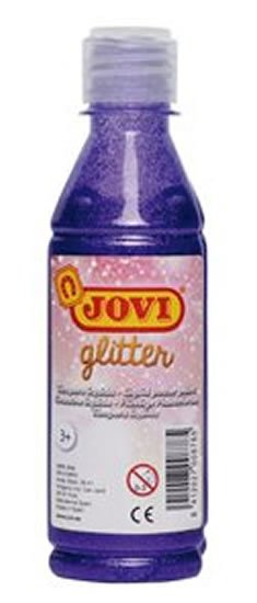 neuveden: JOVI temperová barva glittrová 250 ml v lahvi fialová