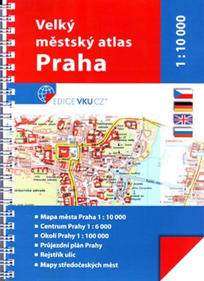 neuveden: Praha městský atlas 1:10 000