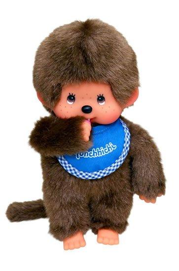 neuveden: Monchhichi 20cm - kluk modrý bryndáček(Mončiči)