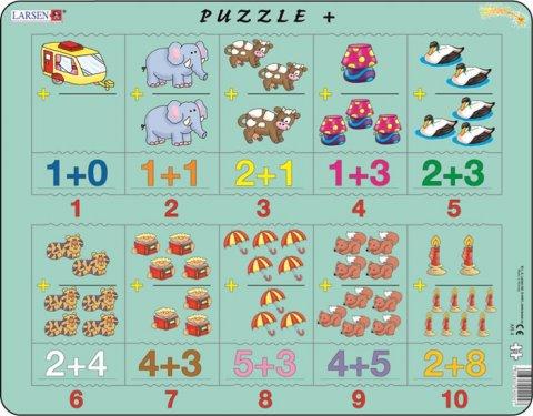 neuveden: Puzzle MAXI - Sčítání s obrázky a čísly/20 dílků