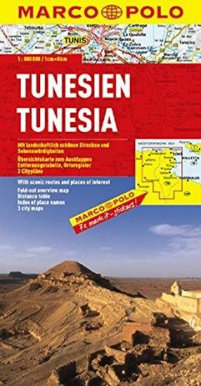 neuveden: Tunisko /mapa