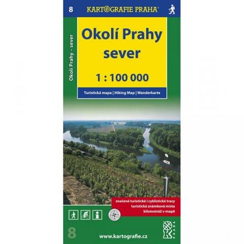 neuveden: 1:100T ( 8)-Okolí Prahy-sever (turistická mapa)