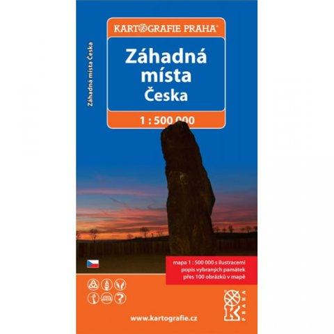 neuveden: Záhadná místa Česka/1:500 tis.