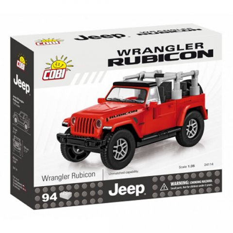 neuveden: Stavebnice COBI 24114 Jeep Wrangler Rubicon 135, červený/94 kostek
