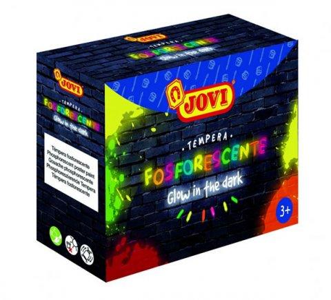 neuveden: JOVI sada temperové barvy neónové 4x55ml v kelímku