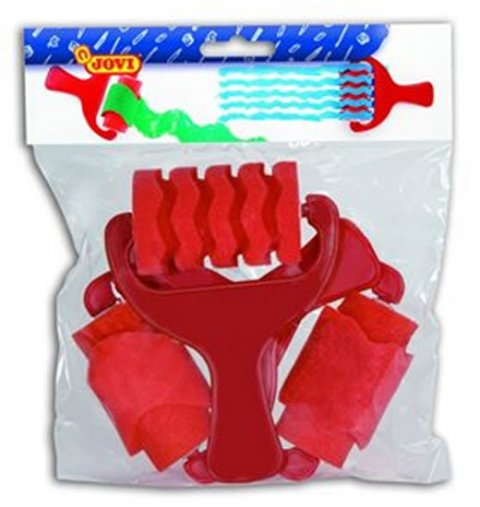 neuveden: JOVI pásikavé válečky 3 ks (barva červená)
