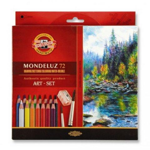 neuveden: Koh-i-noor pastelky MONDELUZ akvarelové kreslířská sada 72 ks