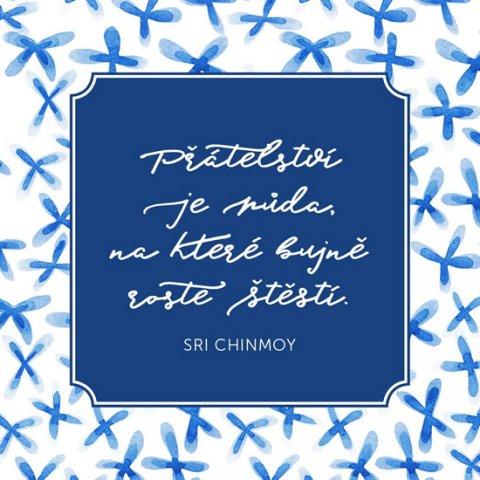 Chinmoy Sri: Korkový podtácek s citátem - Přátelství je půda, na které bujně roste štěst