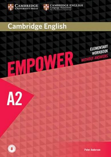 Anderson Peter: Cambridge English Empower Elementary Workbook without Answers with Download