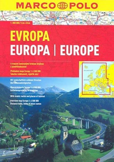 neuveden: Evropa 1:800T autoatlas MP