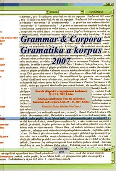 kolektiv: Gramatika a korupus 2007