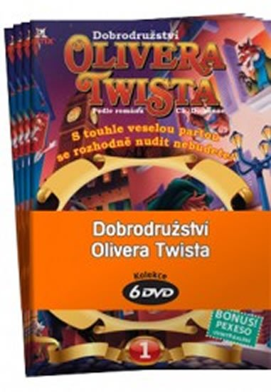 Dickens Charles: Dobrodružství Olivera Twista 1 - 6 / kolekce 6 DVD