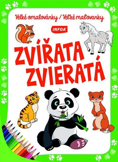 neuveden: Zvířata / Zvieratá - Velké omalovánky / Veľké maľovanky