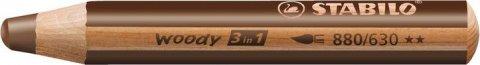 neuveden: Pastelka STABILO Woody 3v1 hnědá