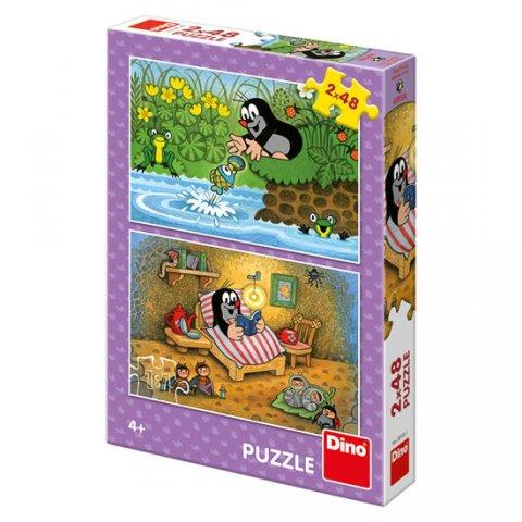 neuveden: Krtek a perla: puzzle 2x48 dílků