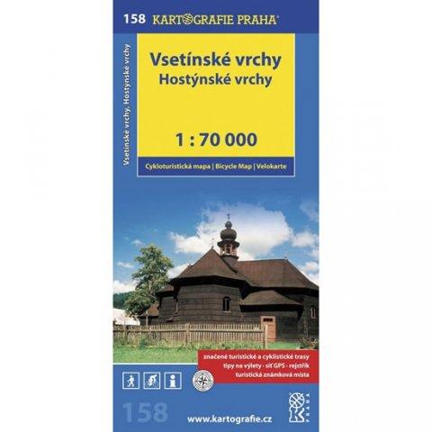 neuveden: 1: 70T(158)-Vsetínské vrchy, Hostýnské vrchy (cyklomapa)