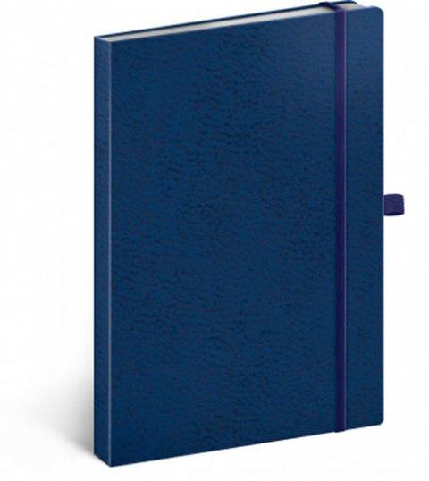neuveden: Notes - Vivella Classic modrý/modrý, tečkovaný, 15 x 21 cm